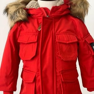 Fred Mello Red Winter Jacket for Boys and Girls